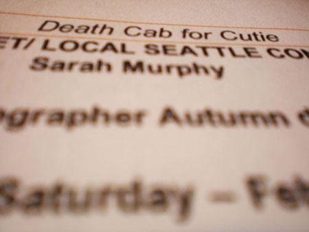 Death Cab For Cutie – Atlantic Records | erin skipley makeup + hair